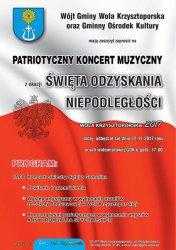 Wola Krzysztoporska: Bieg i koncert z okazji Święta Niepodległości