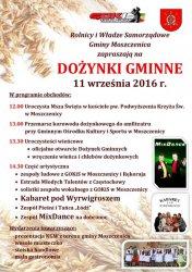 W niedzielę dożynki w Moszczenicy