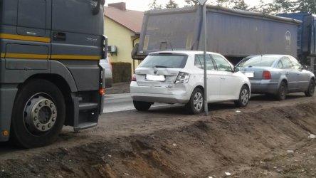 W Uszczynie zderzyły się cztery samochody