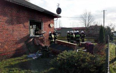 Pożar domu w gminie Wola Krzysztoporska [AKTUALIZACJA]