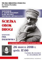 Wspomnienie o Piłsudskim w piotrkowskiej bibliotece