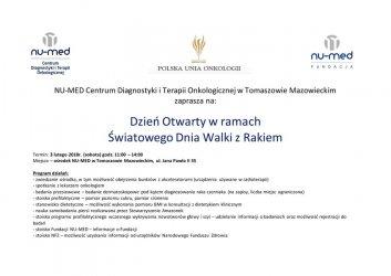 Dzień Otwarty w Centrum Diagnostyki i Terapii Onkologicznej w Tomaszowie Mazowieckim