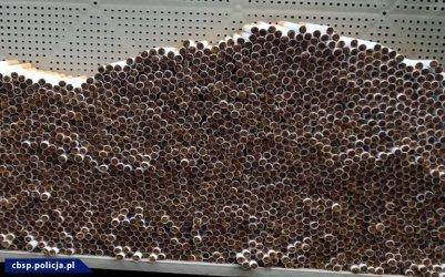 Olbrzymia fabryka nielegalnych papierosów zlikwidowana