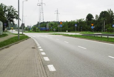 Fragment ulicy Miast Partnerskich bêdzie drog± krajow±