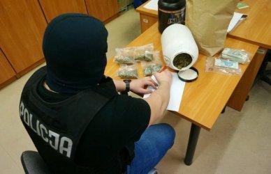 Magazyn marihuany w domu tomaszowianina
