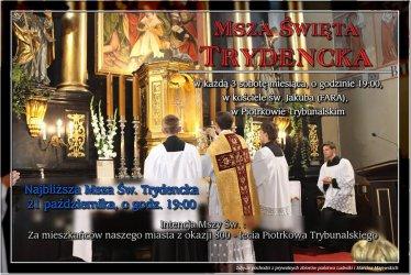 Msza św. Trydencka w intencji mieszkańców Piotrkowa