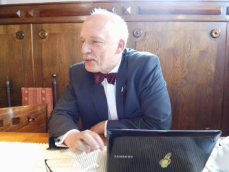 Janusz Korwin-Mikke w Piotrkowie