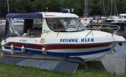 Karetka wodna zostaje nad Zalewem Sulejowskim