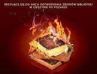 Zbiórka ksi±¿ek po po¿arze w bibliotece