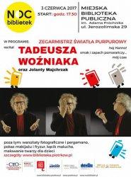 Noc Bibliotek z Tadeuszem Woźniakiem