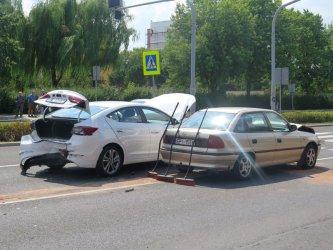 W Piotrkowie zderzyły się trzy auta