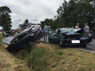 Dwa wypadki na drodze pomiędzy Szydłowem a Grabicą