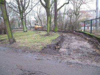 Trwają prace w parku Poniatowskiego