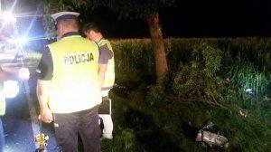 Honda uderzy�a w drzewo. Nie �yj� dwie osoby