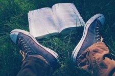 Roztañczone czytanie na trawie