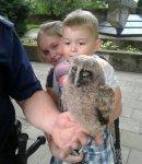 Puszczyk wypad³ z gniazda, pomogli policjanci