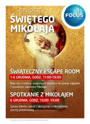 Odwiedź świąteczny Escape room w Focus Mall Piotrków Trybunalski
