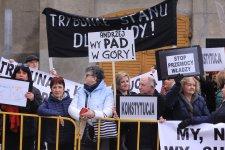 Protesty podczas wizyty prezydentów