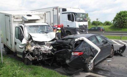 Wypadek na DK 1 w Jeżowie