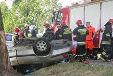 Wypadek na drodze mi�dzy Piotrkowem a Rozprz�. Kierowca nie �yje