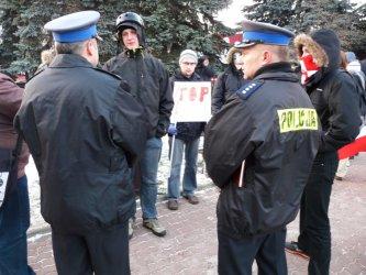 Piotrków przeciw ACTA – nielegalna manifestacja