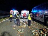 Wypadek na S8. W autobusie by�o 48 dzieci