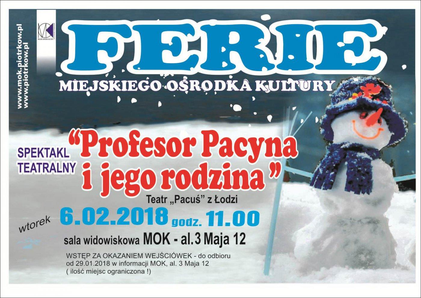 Ferie zimowe w MOK - spektakl teatralny dla dzieci pt: