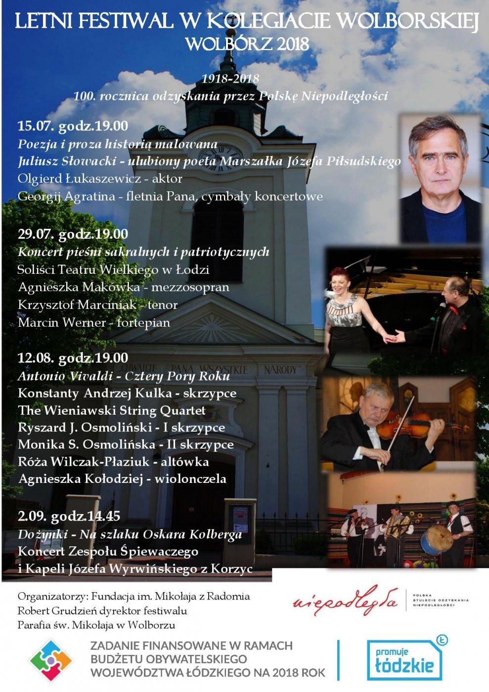 Letni Festiwal w Kolegiacie Wolborskiej