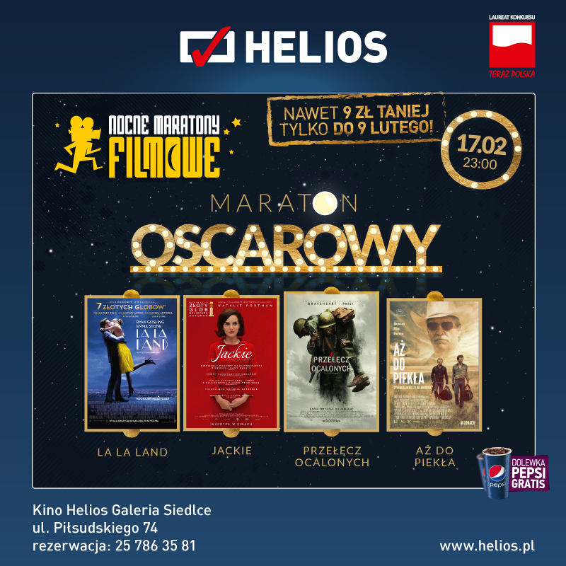 Maraton Oscarowy w Kinie Helios