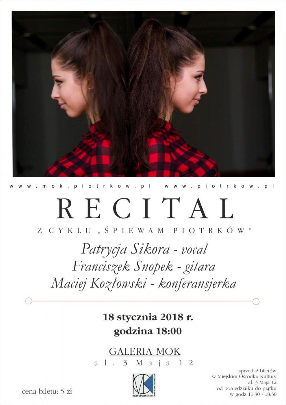 """Z cyklu """"¦piewam Piotrków"""" - koncert Patrycji Sikory"""
