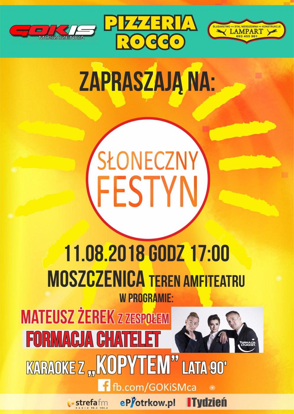 Słoneczny Festyn w Moszczenicy