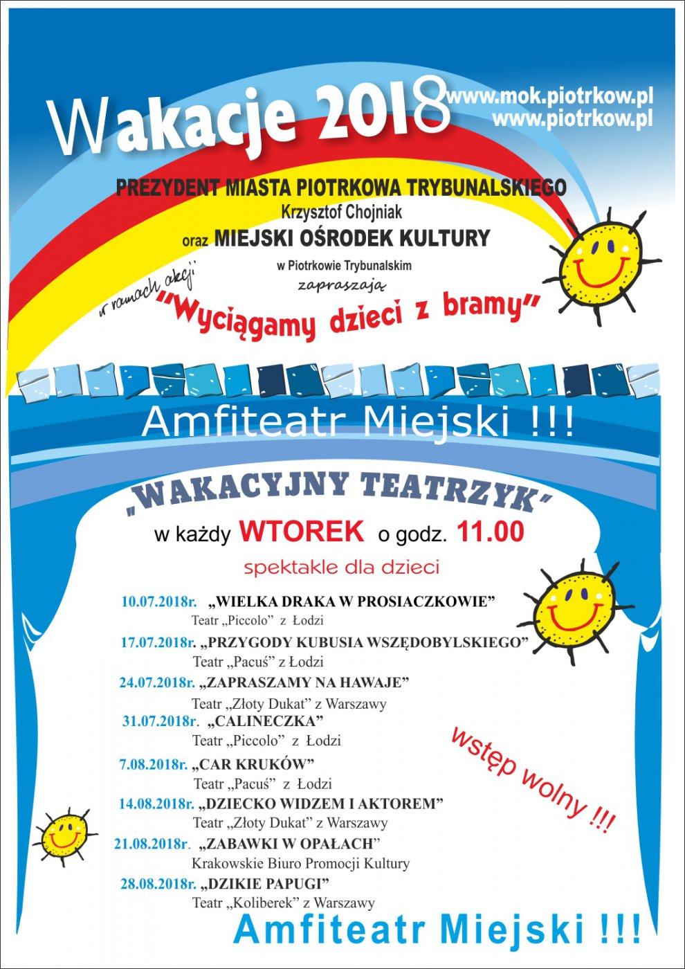 Wakacyjny teatrzyk dla dzieci pt: