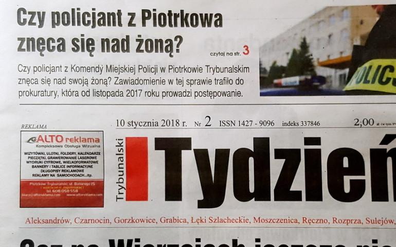 Czy policjant z Piotrkowa znêca siê nad ¿on±?