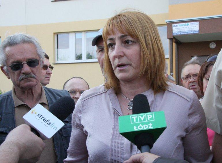 - Ludzie, którzy dopytują o finanse są dla Spółdzielni niewygodni – mówi Beata Grabowiecka, członek Rady Nadzorczej (na zdjęciu podczas protestu z 2014 r.).