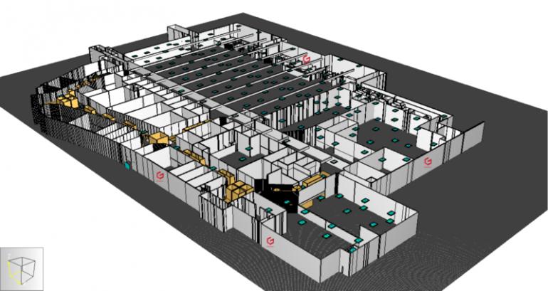 Widok z zewnątrz  wirtualnego modelu Centrum Handlowego zbudowanego przez firmę GardaTech.