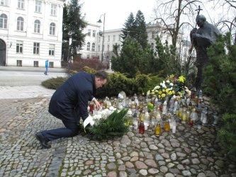 W Piotrkowie też pamiętali o  Janie Pawle II