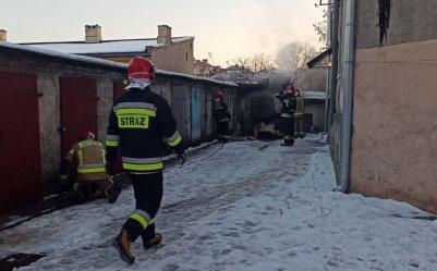 Pożar przy ul. Zamurowej