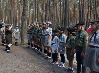 Letni obóz piotrkowskich harcerzy