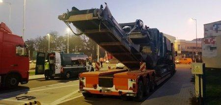 Przewoził kruszarkę do betonu. Ważył blisko 80 ton