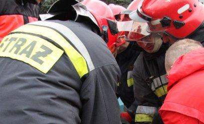 Pożar butli z gazem na dworcu PKS w Piotrkowie