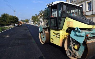 Pierwsze warstwy asfaltu na Wojska Polskiego