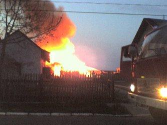 Kurnędz: Pożar drewnianej stodoły
