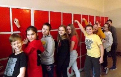 Uczniowie mają swoje szafki