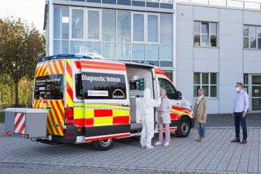 MAN TGE - pojazd diagnostyczny do wykonywania testów na koronawirusa