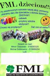 Forum Młodych Ludowców pomaga dzieciom