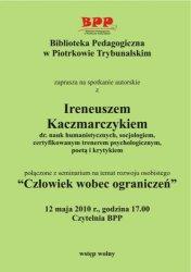Spotkanie autorskie z Ireneuszem Kaczmarczykiem