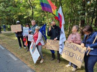Protest na trasie prezydenckiej wizyty