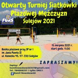 Amatorski turniej siatkówki plażowej w Sulejowie