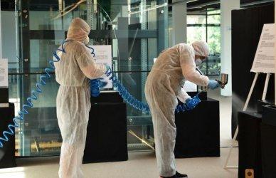 Tak walczyli w mediatece z bakteriami i wirusami