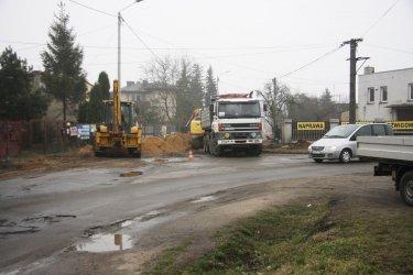 Wstrzymali prace na ulicy Rolniczej